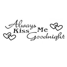 Obral Stiker Dinding Kata Always Cium I Good Night Murah