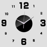 Jual Beli Amart Diy Home Office Room Decor Clock Sticker Mute Wall Clock Decor Wall Sticker Hitam Intl Baru Tiongkok