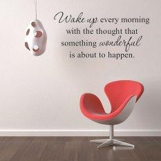 Amart Stiker Dinding Bangun Setiap Pagi Kutipan Inspirasional Dinding Kamar Tidur Stiker-Internasional