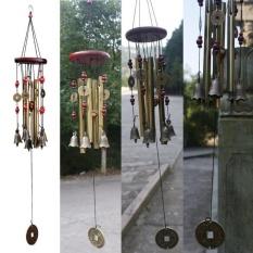 Menakjubkan Antik 4 Tabung Kayu Kapel Gereja Lonceng Lonceng Angin Halaman Dekorasi-Internasional