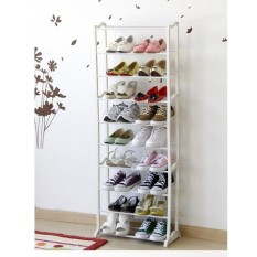 Amazing Portable Shoe Rack Rak Sepatu Portable 10 Susun - Putih