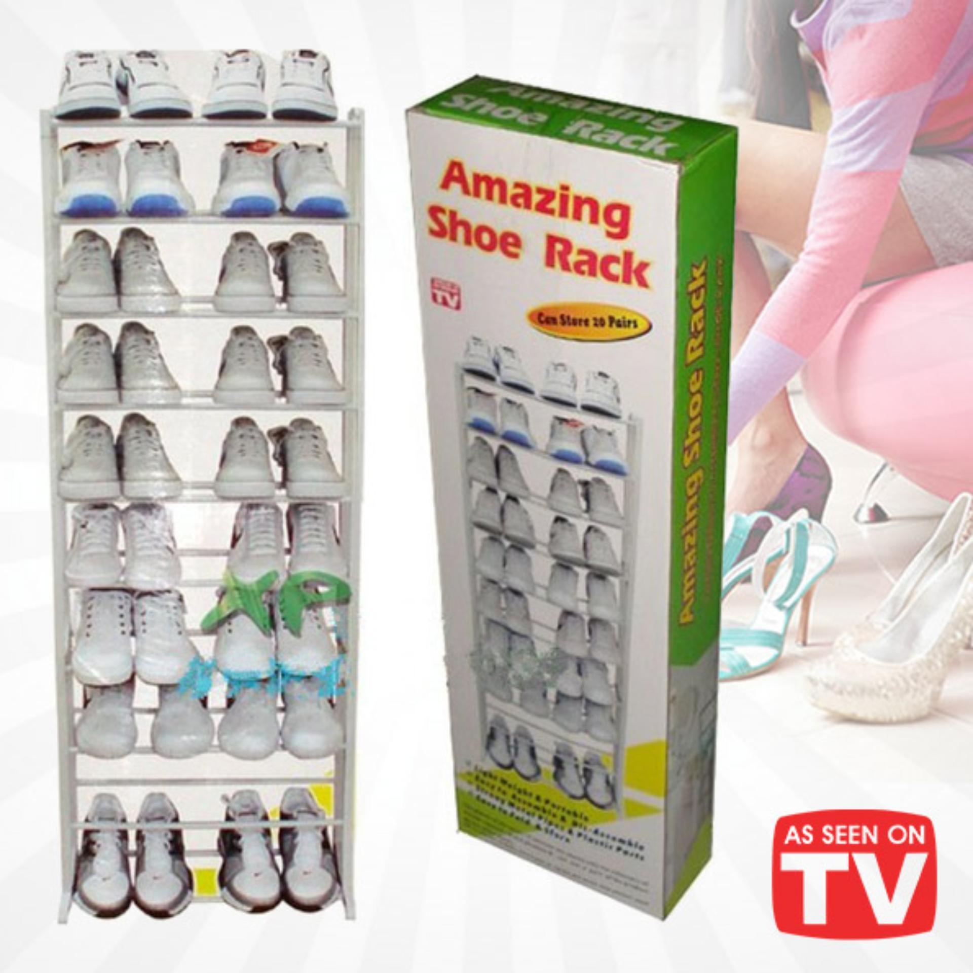 Harga preferensial Amazing Shoe Rack Rak Sepatu 10 Susun terbaik murah - Hanya Rp53.550