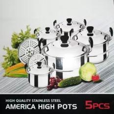 America High Pots Panci Set + Steamer ( Kingko ) Panci Kingko Sett 555 - Hrcfii