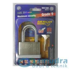 AMERICAN SECURE 60 mm Short Gembok Pendek Grade 9 SUS 304 Series