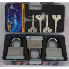 American Secure Gembok Anti Potong 50mm Pendek isi 3 Pcs