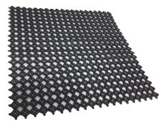 AMP Bintang Laut Ulet Plastik - Karpet lantai - Rubber mat serbaguna -Hitam
