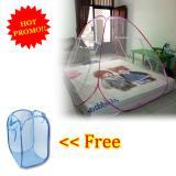 Beli Anabelle Kelambu Lipat Korea 160 X 200 Single Bed Net Anti Nyamuk Canopy Portable Free Laundry Basket Polos Keranjang Baju Kotor Warna Warni Terbaru