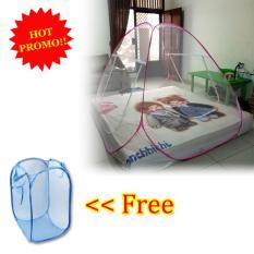 Cara Beli Anabelle Kelambu Lipat Korea 160 X 200 Single Bed Net Anti Nyamuk Canopy Portable Free Laundry Basket Polos Keranjang Baju Kotor Warna Warni