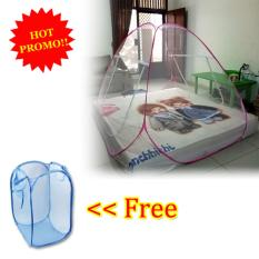 Beli Anabelle Kelambu Lipat Korea 200 X 200 Bed Net Anti Nyamuk Canopy Portable Free Laundry Basket Polos Keranjang Baju Kotor Warna Warni Online Jawa Timur