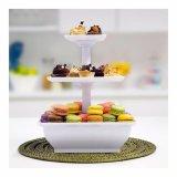 Anabelle Snack Server Rak Kue 3 Tingkat Alas Kue Tempat Roti Dan Kue Alat Penyaji Promo Beli 1 Gratis 1
