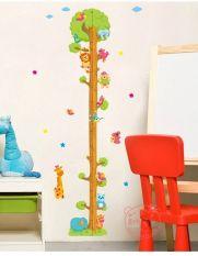 Beli Hewan Tinggi Pohon Chart Wall Stiker Pohon Peralatan Memasak Di Luar Rumah Yang Lain Dekorasi Kamar Anak Stiker Secara Angsuran