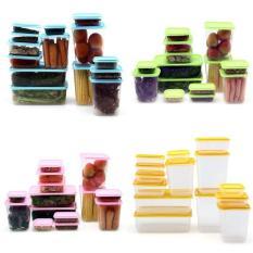 Best Seller CALISTA Otaru Sealware Premium GET 14 pcs / Kotak Hias Kulkas Kekinian / Kotak Makan / Kotak Makaan Set / Container Makanan - Merah / Ungu / Pink / Hijau / Kuning / Biru