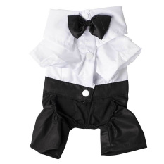 anjing, orangutan anjing timangan kesayangan pakaian tuksedo kemeja baju kaos setelan gugatan dasi kupu-kupu bergaya pakaian pernikahan (International)