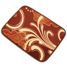 Anti-selip Ramus Area Karpet Ruang Makan Kamar Tidur Tikar/Cover Ombre Bunga