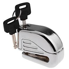 Anti maling Alarm keamanan elektronik suara rem cakram kunci pengaman dengan 2 kunci untuk olahraga balap sepeda motor skuter