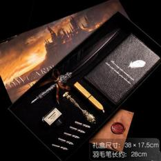 Beli Antique Nature Feather Dip Pen Set English Calligraphy Carved Pen New Year Gift Creative Gift Birthday Gift Quill Pen Stationery Gifts Shengqi Wine Red Oem Asli