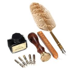 Katalog Antique Owl Feather Quill Dip Pena Tinta Set Langka Hadiah Alat Tulis With Kotak Baru Intl Terbaru