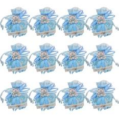 Aoyou Kotak Permen Kecil Ulang Tahun Hadiah Kotak Anak Laki-laki Dekorasi Bayi Treat Kotak Persediaan, Biru-Internasional