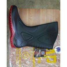 Jual Ap Boots Moto 1 Sepatu Boot Biker Karet Merah Hitam Tinggi 1 2 Betis Online Di Jawa Barat