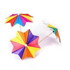 Perkiraan. 145 Pcs dari Delapan Square Paper Cocktail Drink Sticks Parasol Payung Picks-Intl
