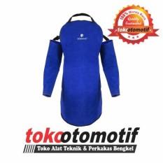 Apron Las Kulit Set - Alat Safety  Pakaian Las Apron Dada Tangan - Baju Jaket Las