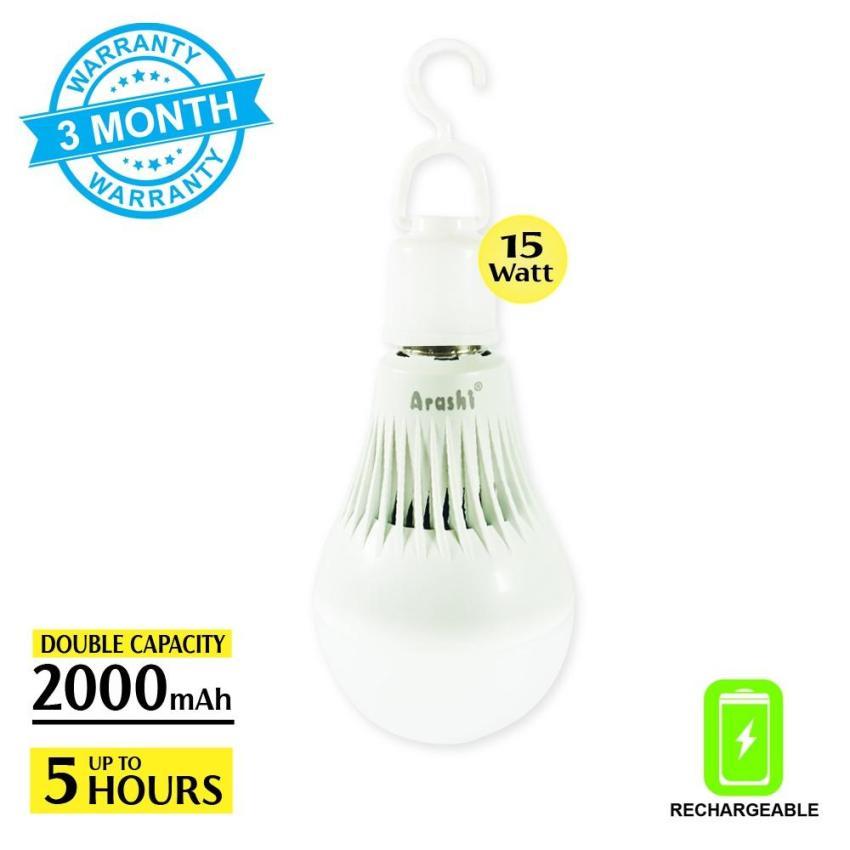 Arashi Bohlam Emergency Lampu Ajaib Lampu Emergency LED + Baterai ATL-15 Watt Rechargeable 5