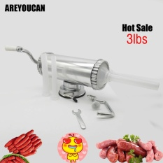 Harga Areyoucan Ayc1103 3 Lbs Hand Operated Sausage Meat Stuffer With Base Homemade Sausage Filling Machine Aluminum Manual Sausage Maker Intl Online