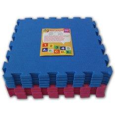 Model Ari Jaya Karpet Puzzle Polos Biru Merah Terbaru