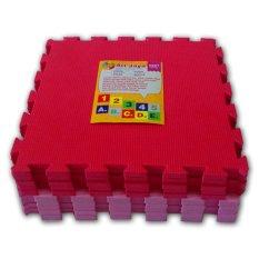 Cara Beli Ari Jaya Karpet Puzzle Polos Merah Pink