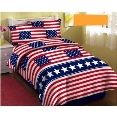 Arjuna Sprei Katun Motif Bendera Amerika