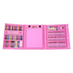 Art Drawing Minyak Pastel Crayon Warna Pensil dengan Spidol Cat Sikat Set Kit Pink-Intl