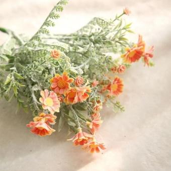 Buatan Palsu Bunga Mid Krisan Floral Pernikahan Bouquet Home Decor-Intl ..