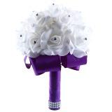 Toko Sutra Bunga Mawar Buatan Kristal Bridal Pengantin Karangan Bunga Pernikahan Yang Luntur Di Tiongkok