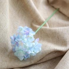Buatan Sutra Palsu Bunga Peony Floral Buket Pernikahan Hortensia Pengantin Biru-Intl
