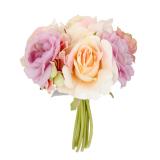 Beli Sutra Buatan Mawar Buket Bunga Pengantin Pernikahan 18 Cm Ungu Champagne Bolehdeals Asli