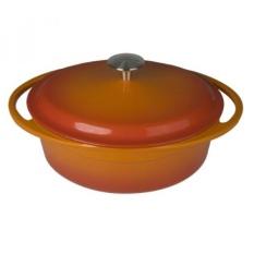 Artland La Maison Cast Iron Oval Casserole Dish, 4-Quart, Orange - intl