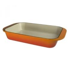 Artland La Maison Cast Iron Rectangular Baker, 5-Quart, Orange-Intl
