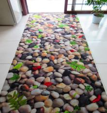 Asli suede batu tikar 3D pencetakan tiga dimensi karpet keset pintu di pintu masuk foyer di depan non-slip tikar