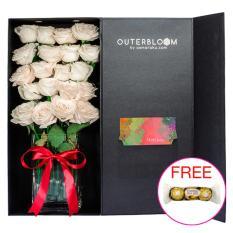 Jual Rose Signature Rose Box Classic Premium Asmaraku Pure White Rosee Branded