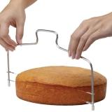 Jual Astar Cyber Alat Dapur Kue Ganda Kawat Pemotong Kue Menyamaratakan Disesuaikan Kue Alat Pengiris Silver International Grosir