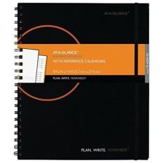 AT-A-GLANCE Perencanaan Buku Catatan dengan Kalender Referensi, Rencana. Menulis. Ingat. Januari 2018-Desember 2018, 8 9/16