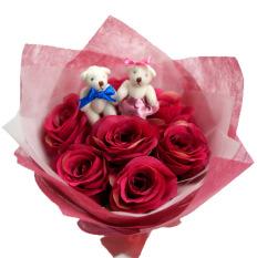 Athalia Rangkaian Bunga Artificial Bunga Genggam Hand Bouquet Dan Boneka Amanda Jawa Timur Diskon 50