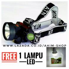 ATN Lampu Senter Kepala SMD LED 7W Li-Ion Headlight Multifungsi + Free 1pc Lampu LED DC-5V Daya 5W