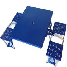 Atria Hobbit Portable Folding Picnic Table & Seats - Meja Lipat Piknik - Biru