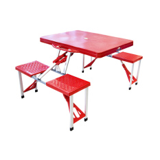 Atria Hobbit Portable Folding Picnic Table Seats Merah Original