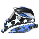 Spesifikasi Audew Pro Surya Electrowelding Topeng Las Otomatis Gelap Las Helm Bersudut Lima Baru