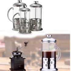 Iklan Audew Stainless Steel Kaca Cafetiere Penyaring Kopi Teh Poci Teh Pot Tekan Penyelam 800 Ml Audew New Internasional