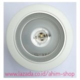 Review Terbaik Augen™ Germany Fitting Downlight 4 Inch Reflektor White Diamond Untuk Lampu Lhe Lampu Pijar Bohlam Led Bulb Max 20W E27