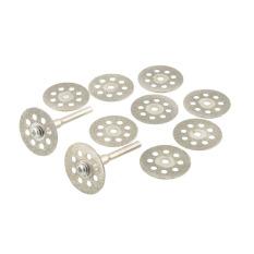 Beli Aukey 10 Pcs Mini 22Mm Vented Rotary Diamond Cutting Disk Mandrel Dremel Tools Diy Di Tiongkok