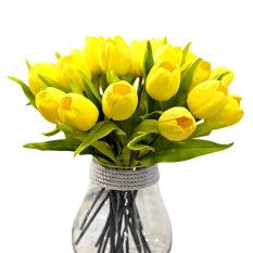 Toko 10 Buah Buatan Pu Kuning Bunga Tulip Lengkap Tiongkok
